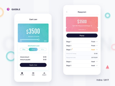 Save the repayment page ux user ui mobile login ios interface app