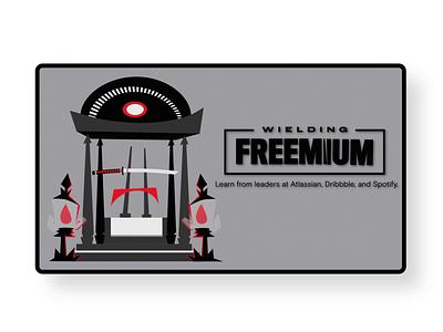 Wielding Freemium - Twitter Post - GIF illustration 2d animation gif