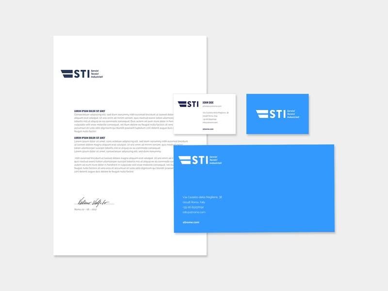 Brand Identity | STI thanatos digital agency graphic design brand identity design brand identity logo design logodesign logo brand design brand branding businesscard stationery design stationery logo minimal logo a day logo collection services technology engineering