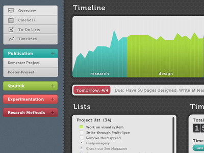 WIP: Time Management App gui mac os x time management to do project manager ui