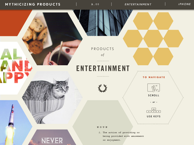 Products of Entertainment thesis website tumblr images wip