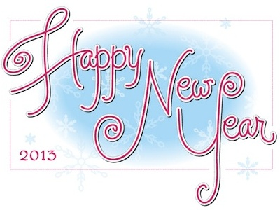 Happy New Year lettering script hand lettering