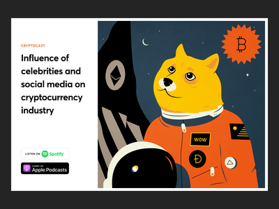 Dogecoin to the Moon podcast klaxon space moon social media news meme influence cryptocurrency ethereum bitcoin dogecoin doge design illustration gogoapps