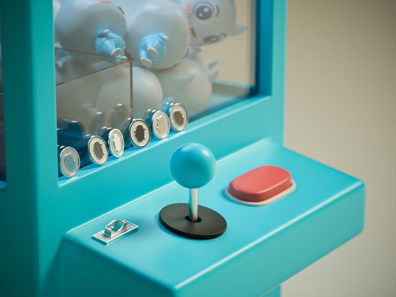 Doll machine 2 octane minimalism cinema 4d 插图