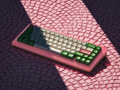 抹choco c4d keyboard render