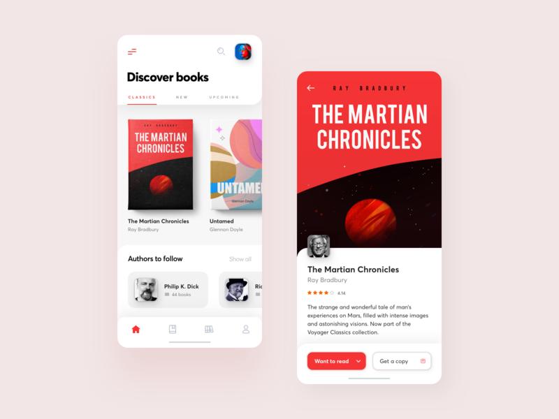 Bookstore App design branding redesign ios ui typography illustration product design bookstore book app netguru mobile