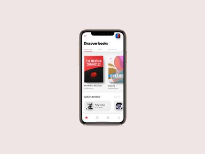 Bookstore App Animation after effects principle app netguru bookstore ios product design typography mobile ui redesign branding design