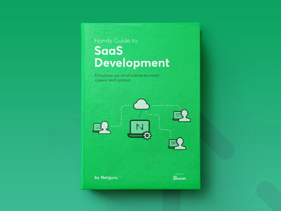 SaaS Development Cover icon vector product tips netguru saas ebook cover book