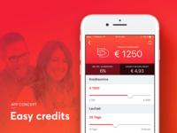 Easy credits - App concept