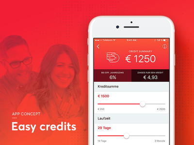 Easy credits - App concept ux ui people iphone mobile sketch netguru money credits app ios