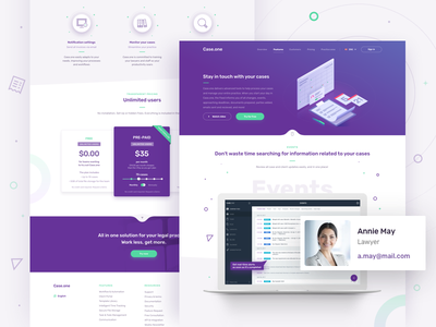 Case.one - Case Updates illustration website home law redesign desktop payment services ui dashboard icons landing page