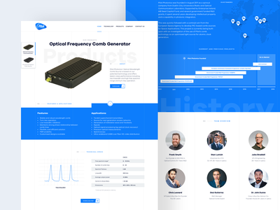 Pilot Photonics - Product & Company page product design web design company product rwd mobile redesign typography technology laser landing page webdesign landing