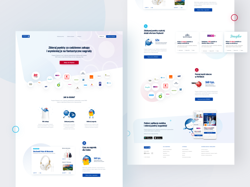PAYBACK - Landing page landing product design web design landing page web development fintech finance app illustration dashboard mobile redesign ux  ui ecommerce