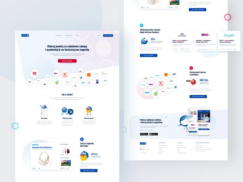 PAYBACK - Landing page landing product design web design landing page web development fintech finance app illustration dashboard mobile redesign ux  ui ecommerce