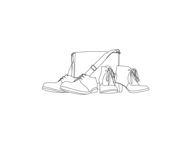 Just some Shoes zeha leather bag shoes vector illustration