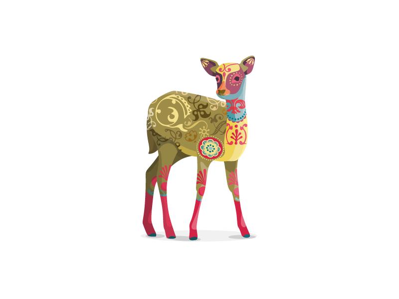 Just a colorful Deer ornaments colorful deer