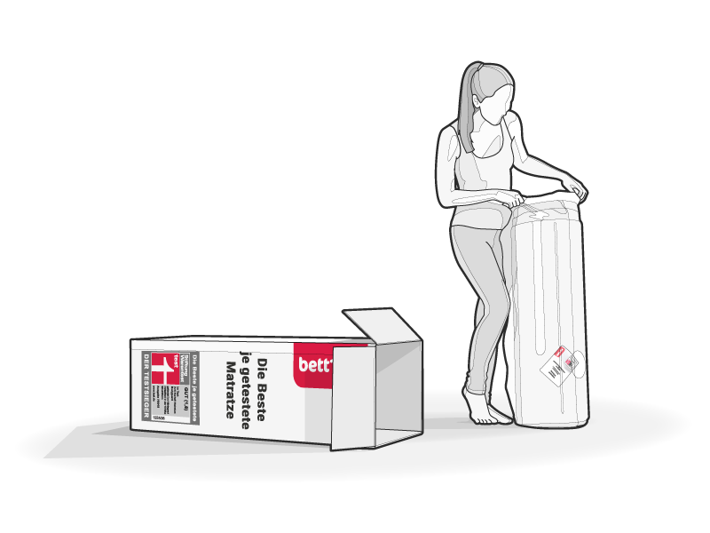 Commercial Illustration woman box vector lines illustration