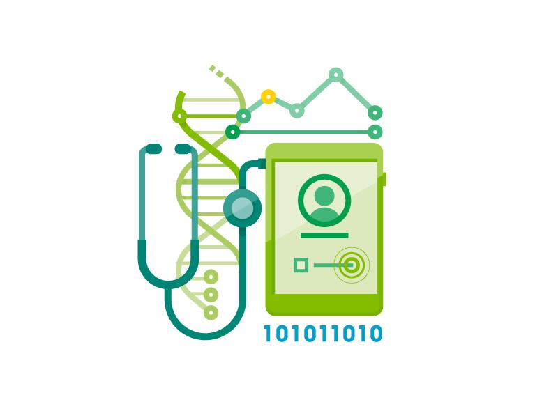 Icon digital health blue green digital health ipad icon