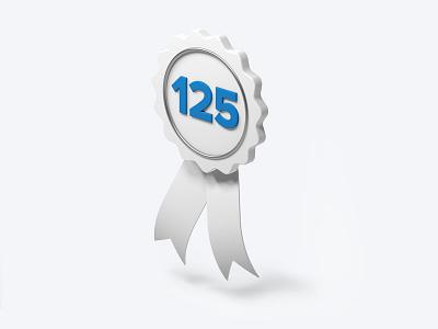 Gazelle cgi 3d blue years 125 celebration banner bike infographic illustration