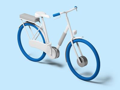 Gazelle cgi 3d blue e-bike bike infographic illustration