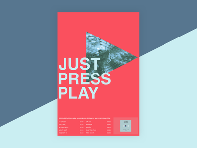 Press Play Music Poster colors music poster