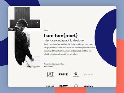 Tommert 2K18 branding graphics design interface design portfolio