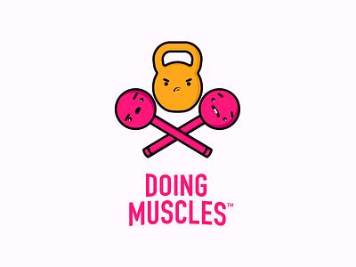 Doing Muscles Character Sheet V1 avatars logo kettlebell illustration art concept vector tshirt design icon fitness character design illustration