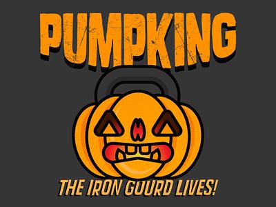 Doing Muscles: The Pumpking! pumpkin october avatar vector design fitness logo branding and identity branding brand icon illustration logo halloween
