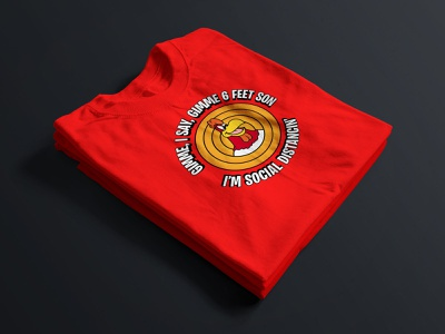 Foghorn Leghorn Social Distancin' T-Shirt vector illustration print cartoon cartoon character looney tunes tshirtdesign branding and identity icon logo socialdistancing tshirt typography vector branding illustration design