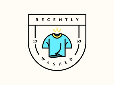"""Recently Washed"" Shirt Design icon badge logo design shirt tshirt"