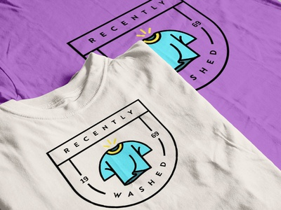"""Recently Washed"" Shirts mockup brand logo icon design shirt design shirts"