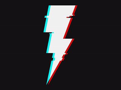 """Tempest"" Aberration Logo branding icon lightning bolt design glitch bolt illuatration avatar brand logo"