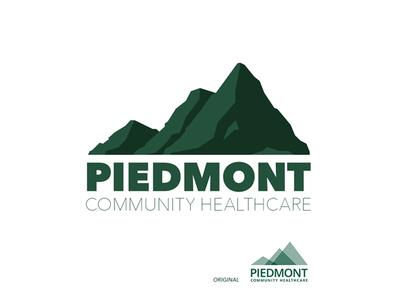 Piedmont Healthcare Logo Explored sketch exploration branding and identity identity branding brand typography vector icon design mountain illustration branding logo