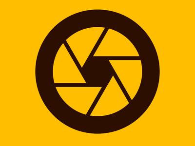 Golden Shutter design brand illustration vector gold shutter icon identity branding logo