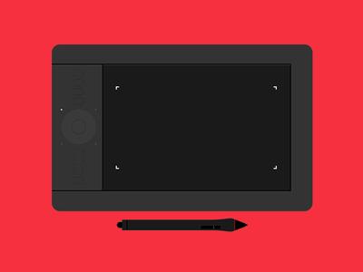 Wacom Tablet - Everyday Equipment avatar logo vector tool digital illustraion wacom wacom tablet icon design icon