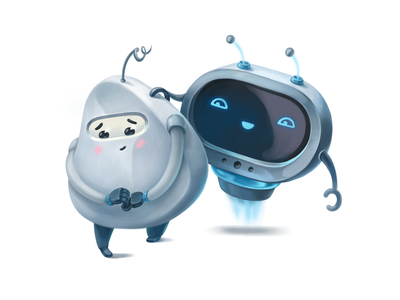 Empathic Club emotional emotion game 2d shy illustration robots robot cute character design character