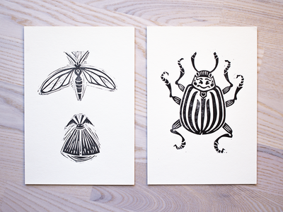 Linocut Insects