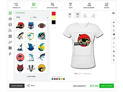 Tshirt Designer Tool Designs Themes Templates And Downloadable Graphic Elements On Dribbble