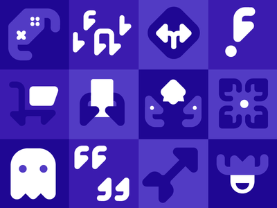Pictograph shopping cowboy gaming ghost branding icons pictograph illustration