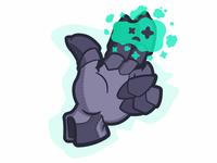 Haunted Gauntlet character concept vector illustration