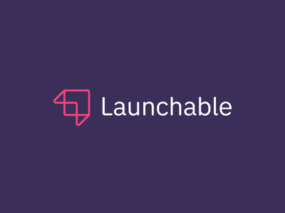 Launchable Logo branding logos logo launchable