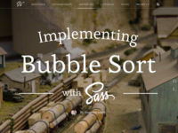 Implementing Bubble Sort with Sass