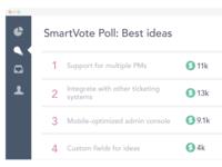 SmartVote interface illustration
