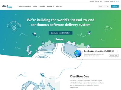 New CloudBees Homepage cloudbees