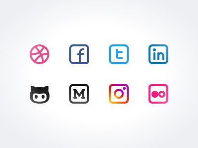 Sneak Peak 3: Social Icons icon pack
