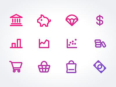 Sneak Peak 6: Finance & E-commerce icon pack