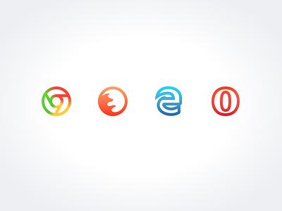 Sneak Peak  9: Browser Icons opera edge firefox chrome icon pack