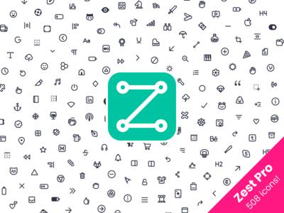 Zest Pro Icons