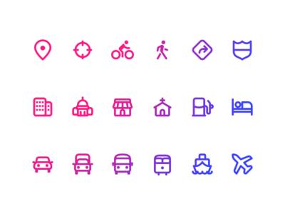 Zest Travel Icons
