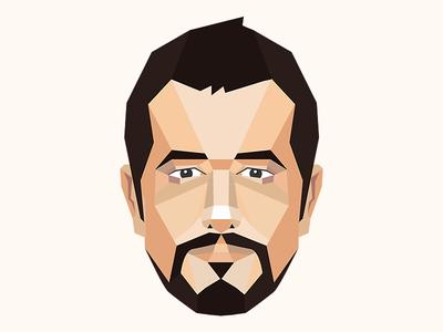 Geometric geometric portrait 2d illustration poster geo flat design